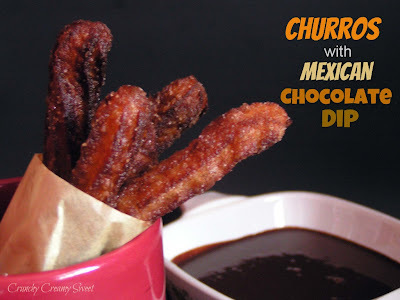 Churros with Mexican Chocolate Dip