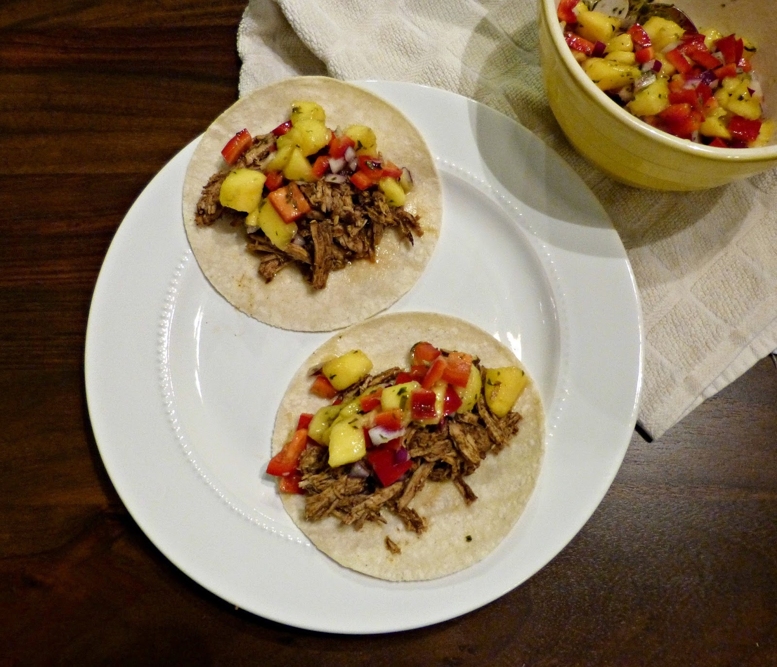 What's For Dinner Wednesday: Slow Cooker Jerk Pulled Pork Tacos with Mango Salsa