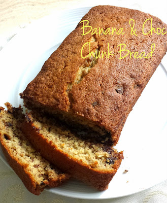 Easy Banana & Chocolate Chunk Bread