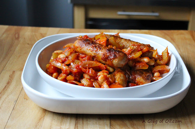 Meat-free Sausage and White Bean Cassoulet
