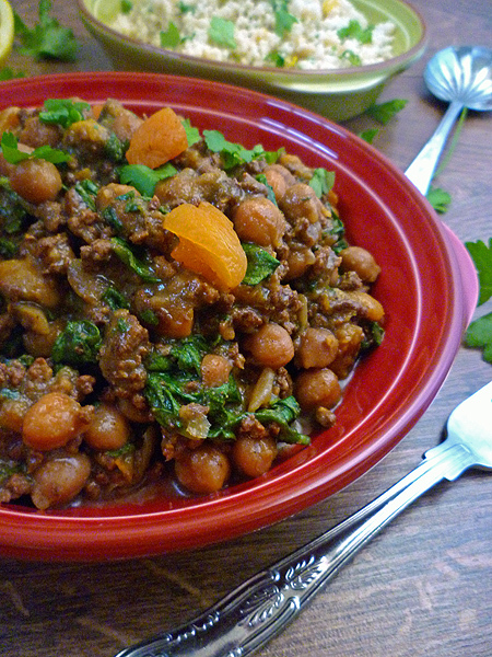 * Slow Cooker Moroccan Lamb Tagine