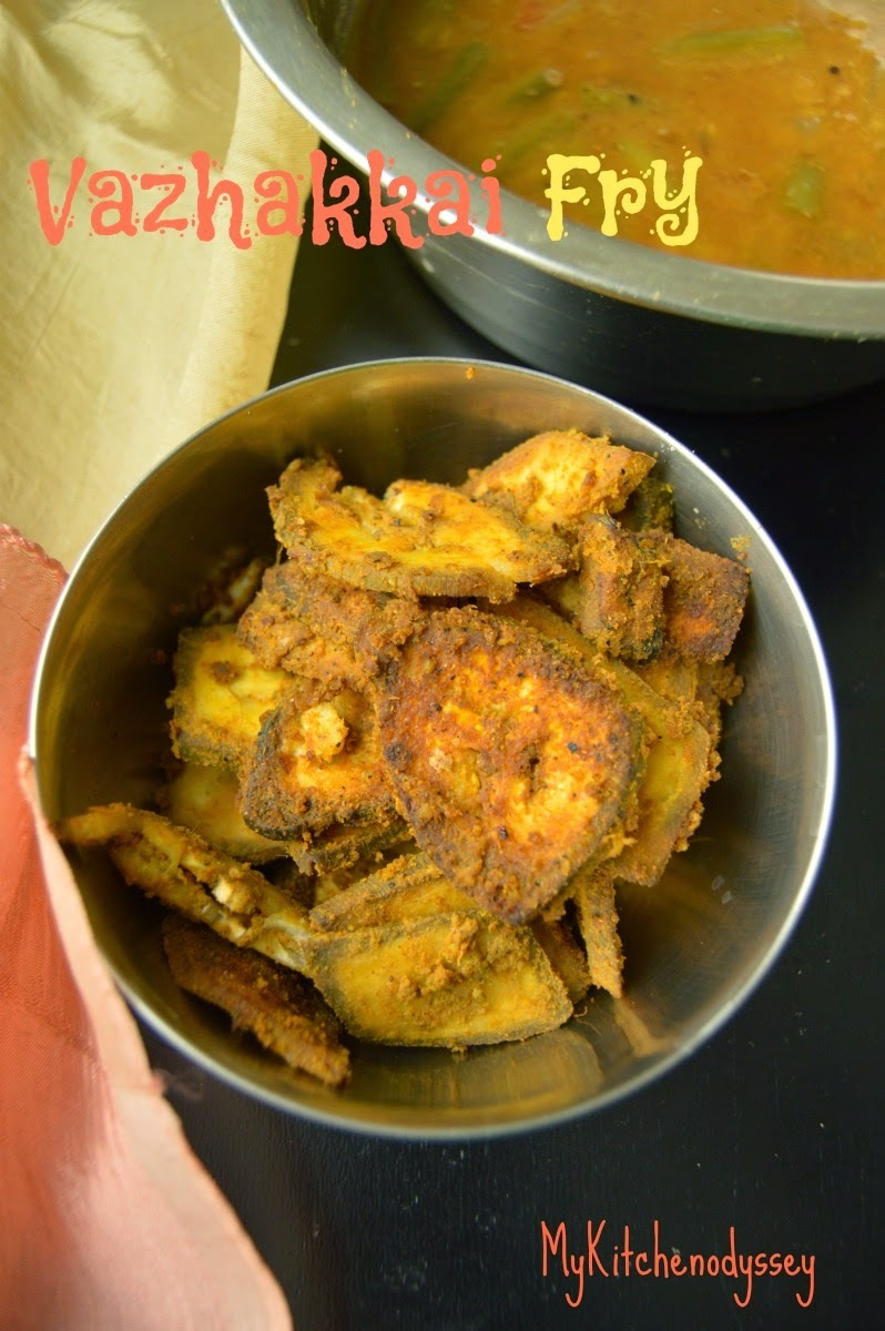 Raw Banana - Vazhakkai Varuval | Rice Side Dish