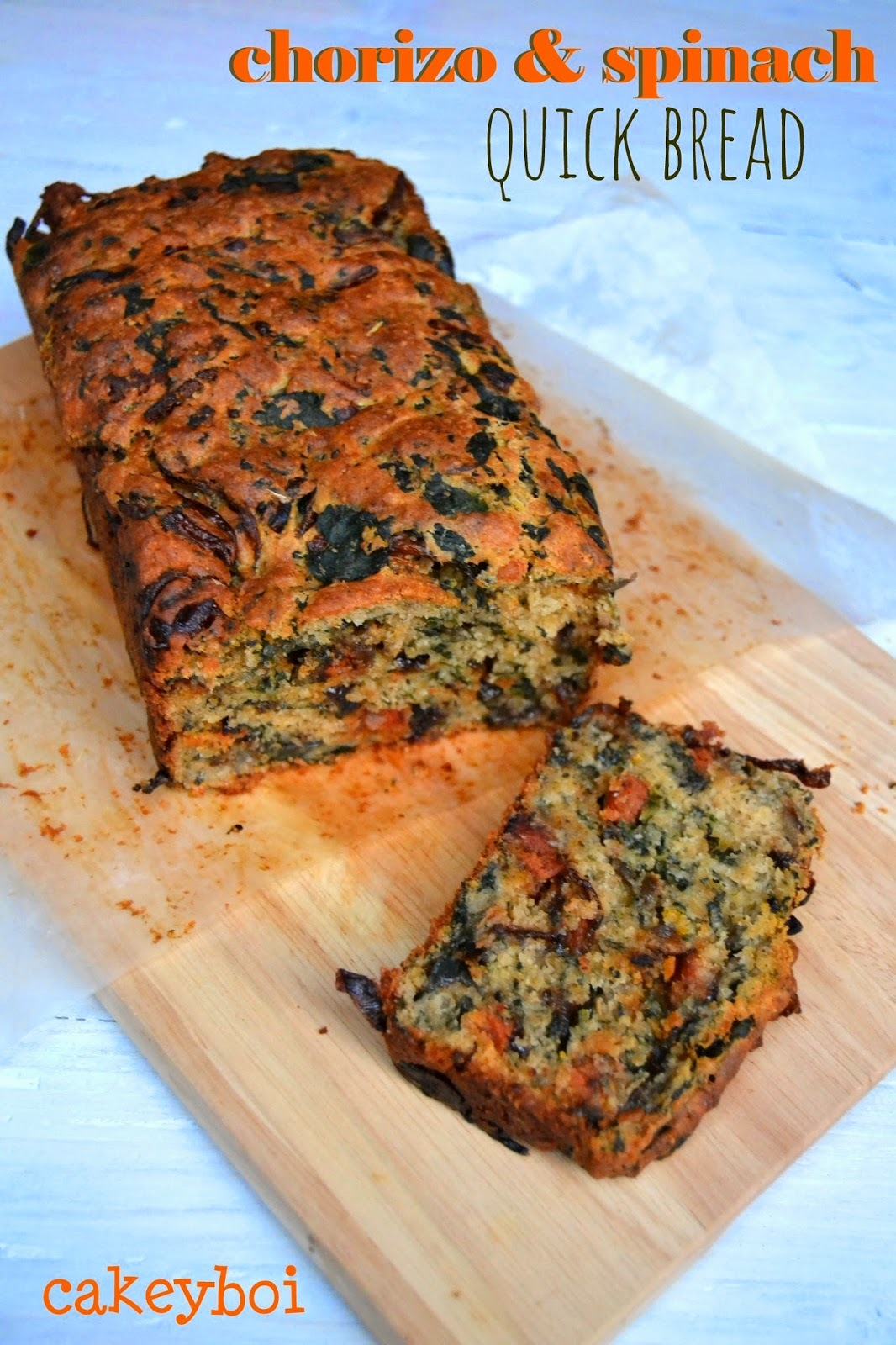 Chorizo and Spinach Quick Bread