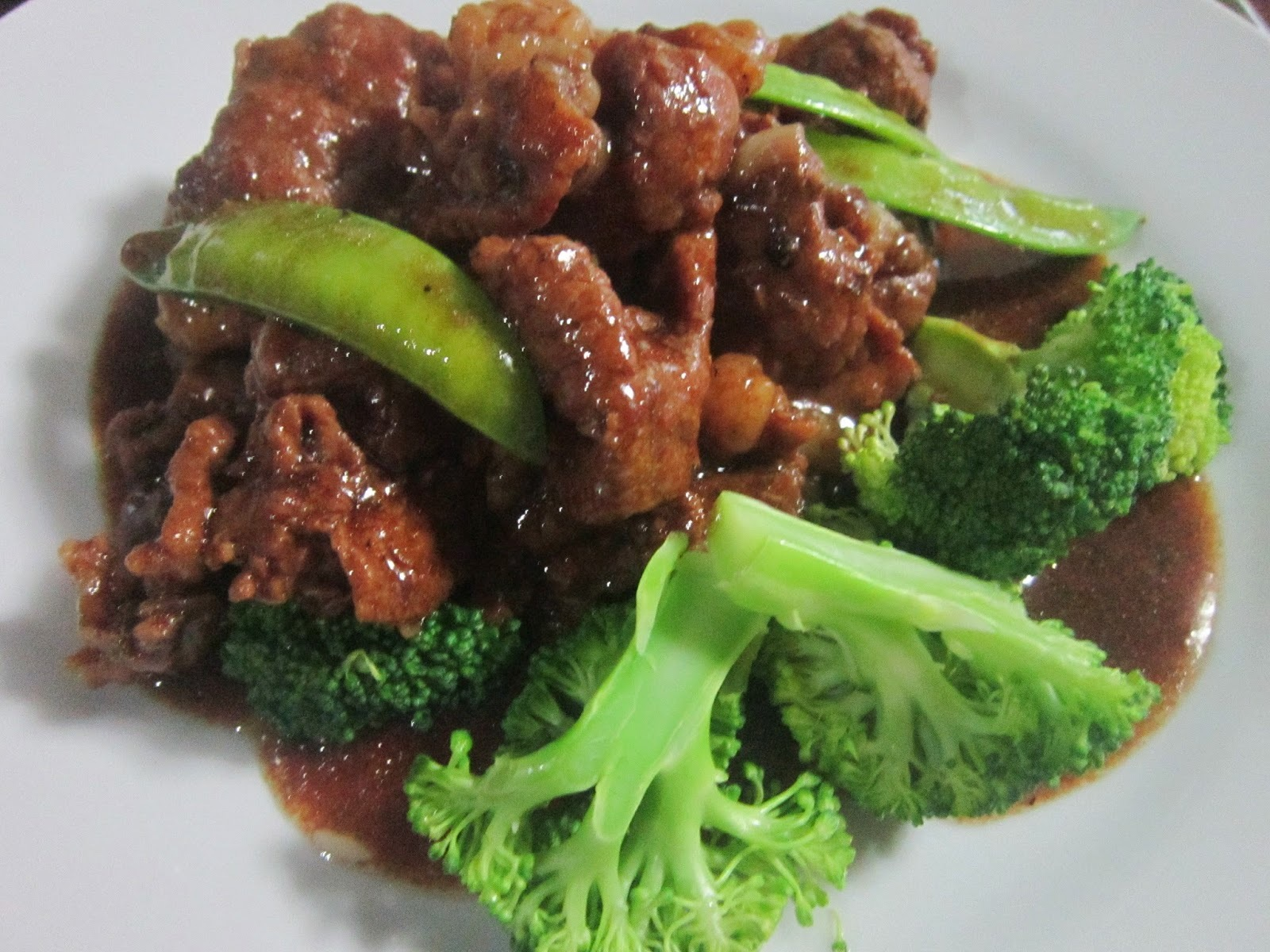 BEEF BROCOLLI and CHICHARO in OYSTER SAUCE