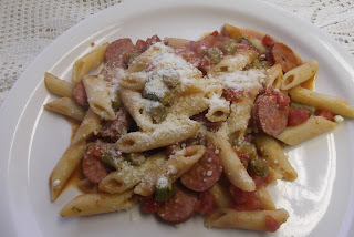 Smoked Sausage, Asparagus And Pasta