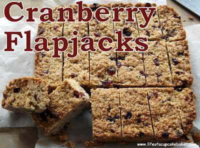 Cranberry Flapjacks & my first Sweet Leftovers Link Party #1