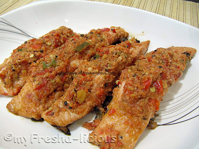 Salmon Marinated in Mexican Chili Sauce