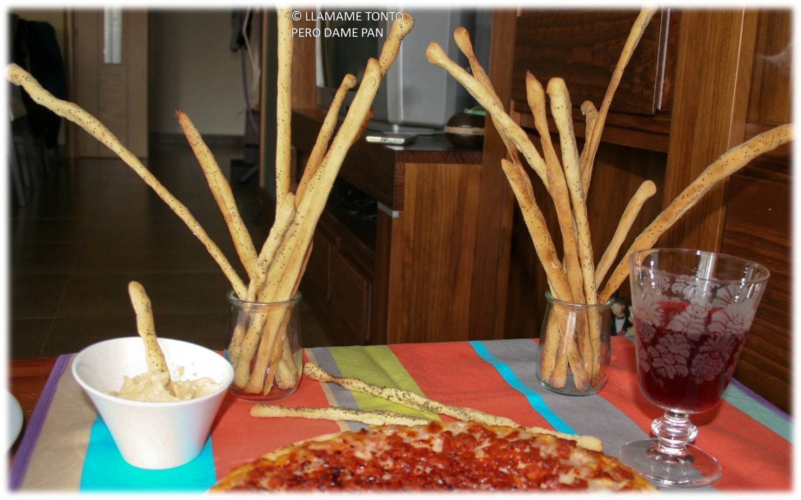 Grisines, palitos de pan.