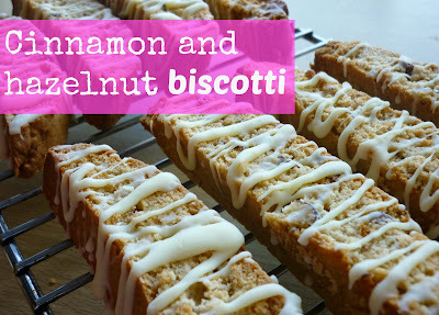 Cinnamon and hazelnut biscotti