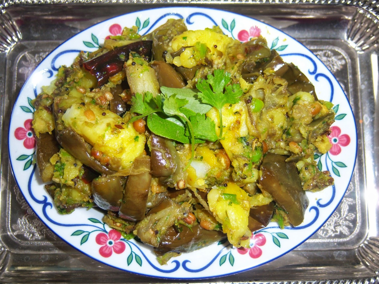 VankayaAloo Curry||BrinjalPotato Curry -- How to make Brinjal Potato Curry