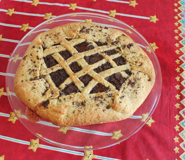 Dark Chocolate Orange Crostata #FridayPieDay