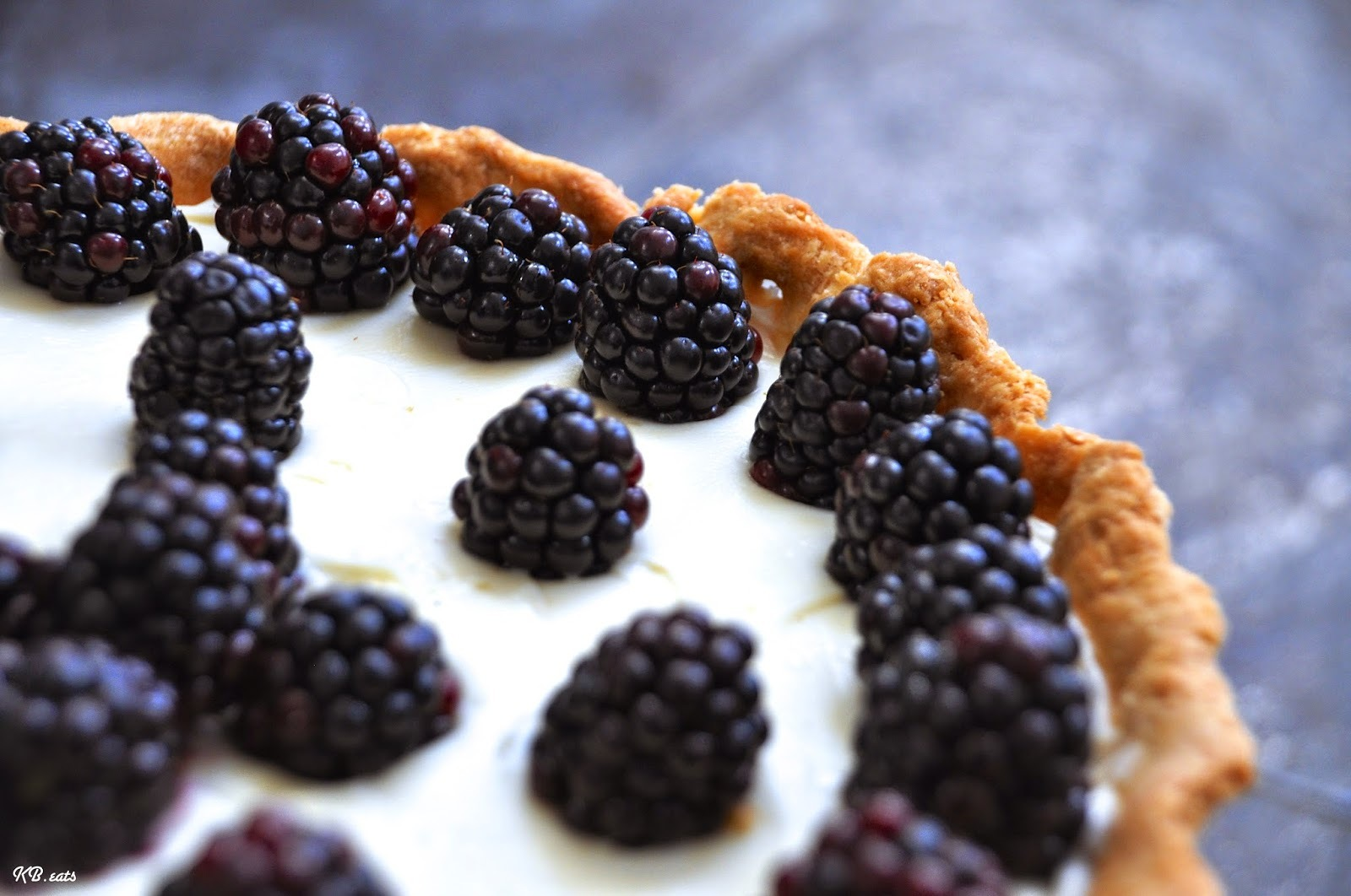 Apple & Blackberry Marscapone Tart