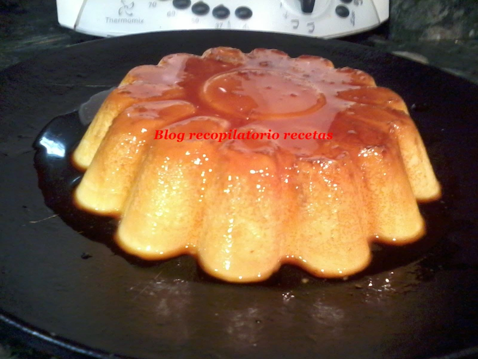 Flan de quesitos en thermomix