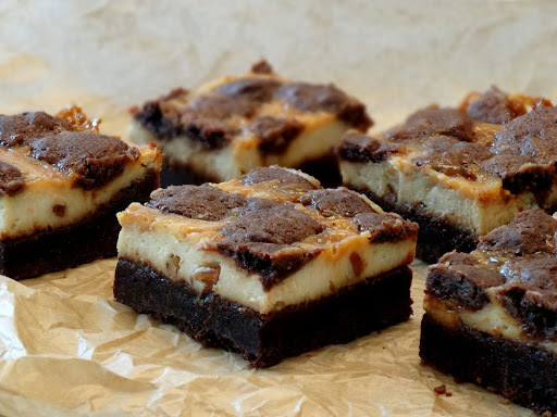 Nutty Caramel Cheesecake Bars