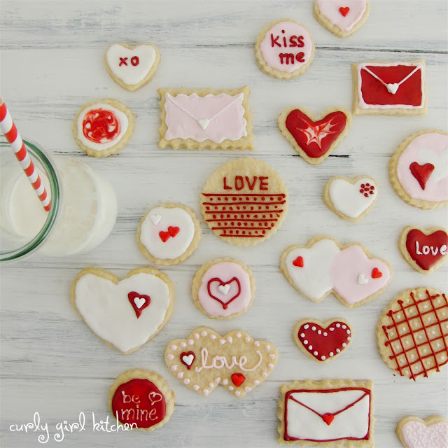 Lemon Shortbread Valentine's Day Cookies