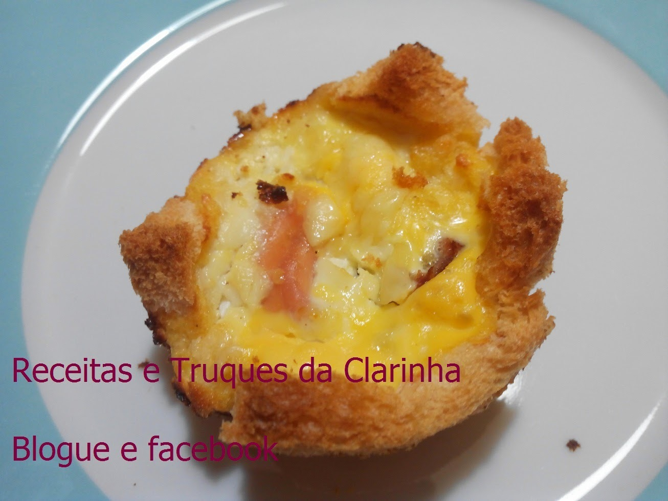 Quinze dias com... Donna Hay e Quiches de bacon e queijo (bacon and cheese bread quiches)