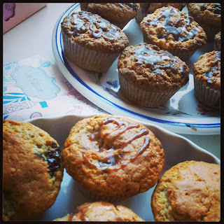 Muffiny s rebarborou a se skořicí / Muffins with rhubarb and cinnamon