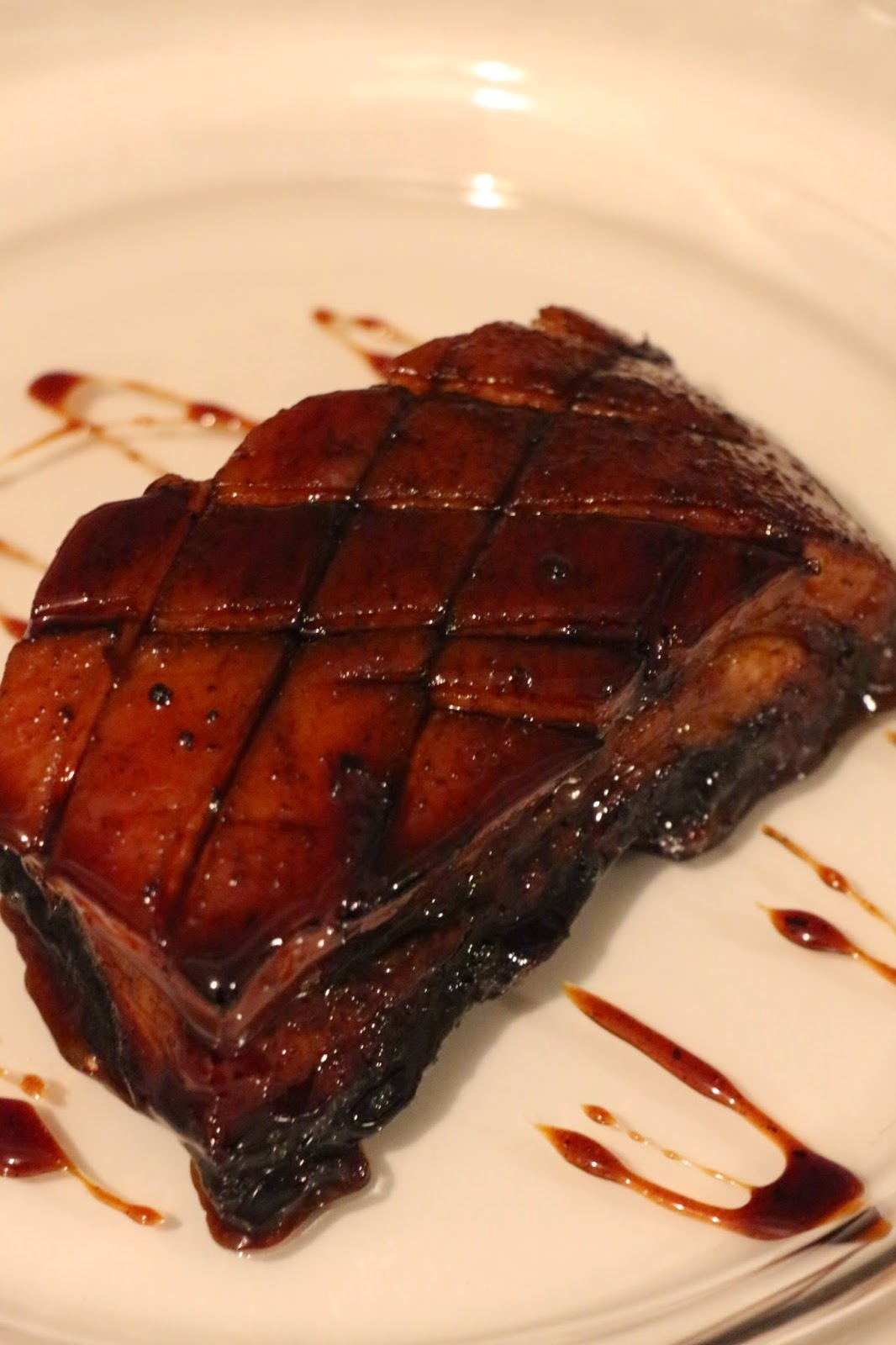 SWEET STICKY SOY AND GINGER SLOW BRAISED PORK BELLY