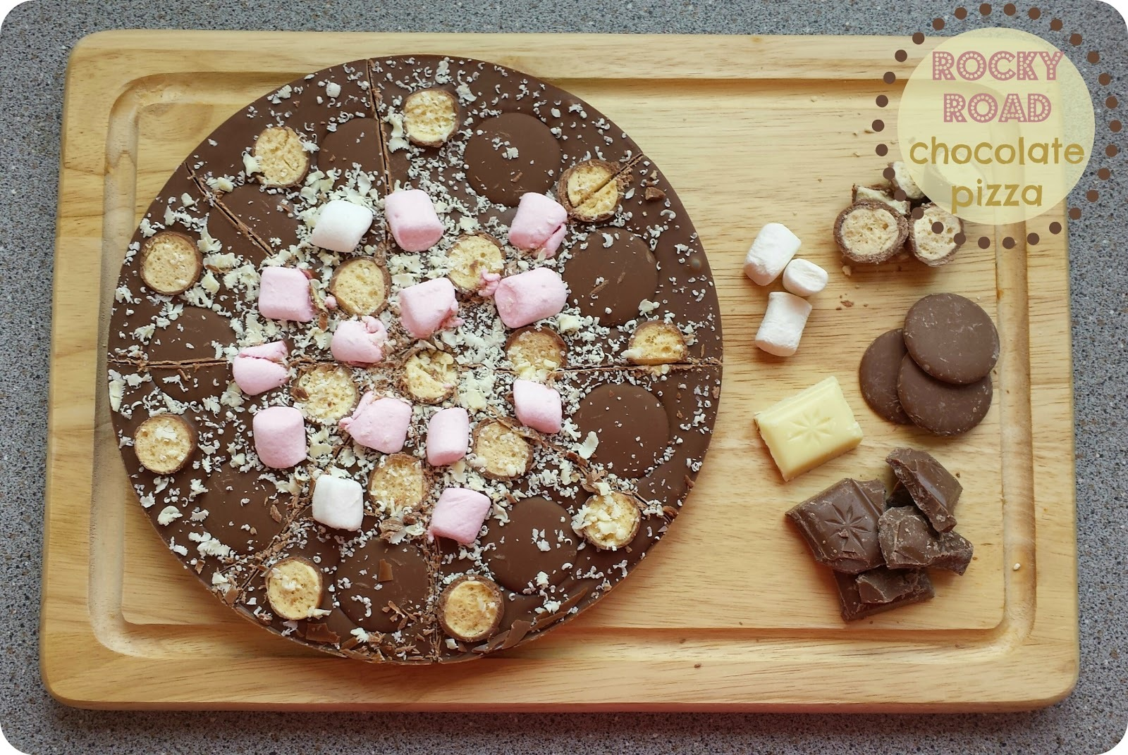 Recipe - Rocky road chocolate pizza