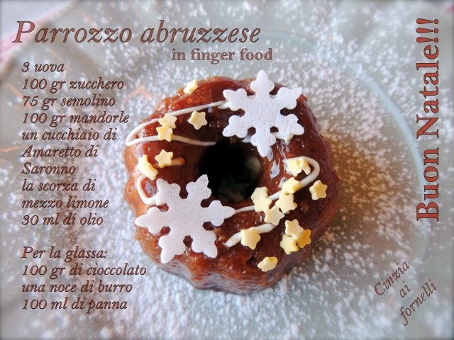 Parrozzo abruzzese in finger food