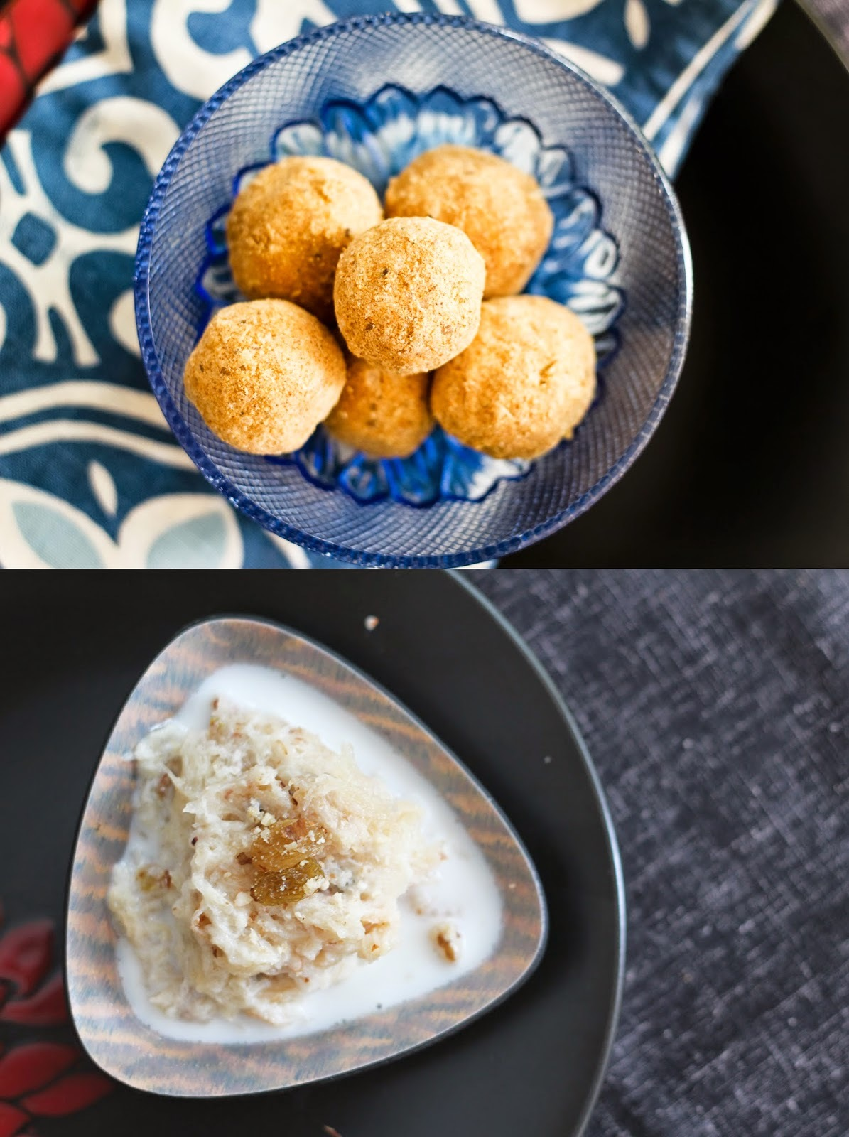 F for Feni (Pheni) Besan Laddu (Shredded Vermicelli Chickpea Flour Ladoo) + 2-minute Feni Payasam Recipe