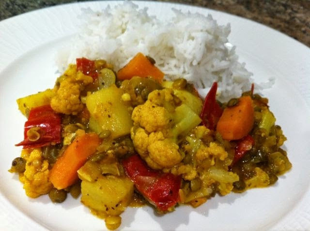 Easy vegetable curry