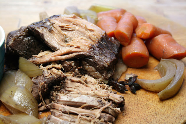 slow-cooker brisket with onions and star anise