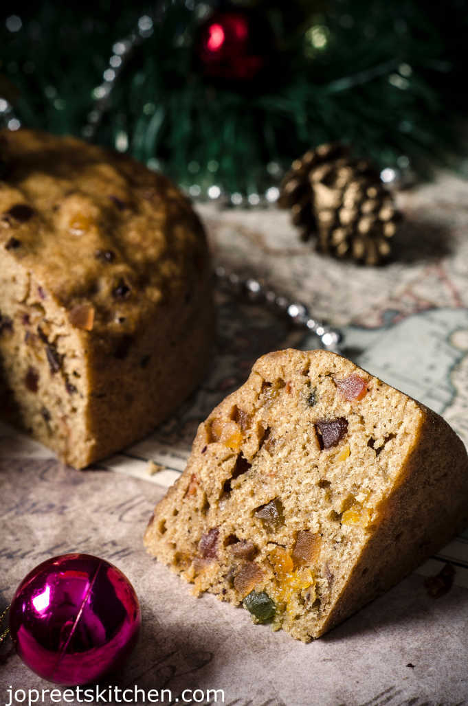 No Soak Christmas Fruit Cake / Steamed Fruit Cake Recipe