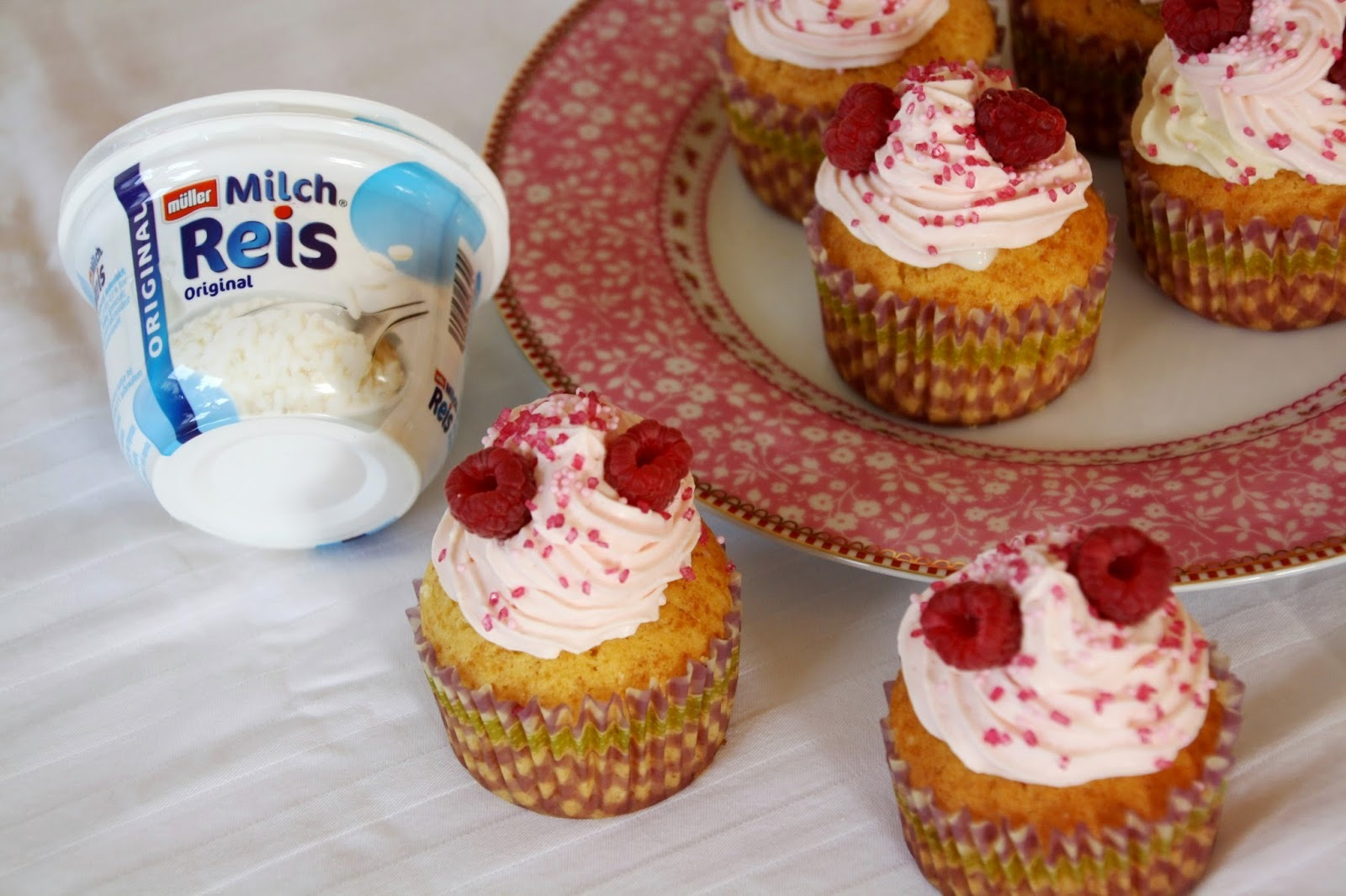 Himbeer-Milchreis-Cupcakes