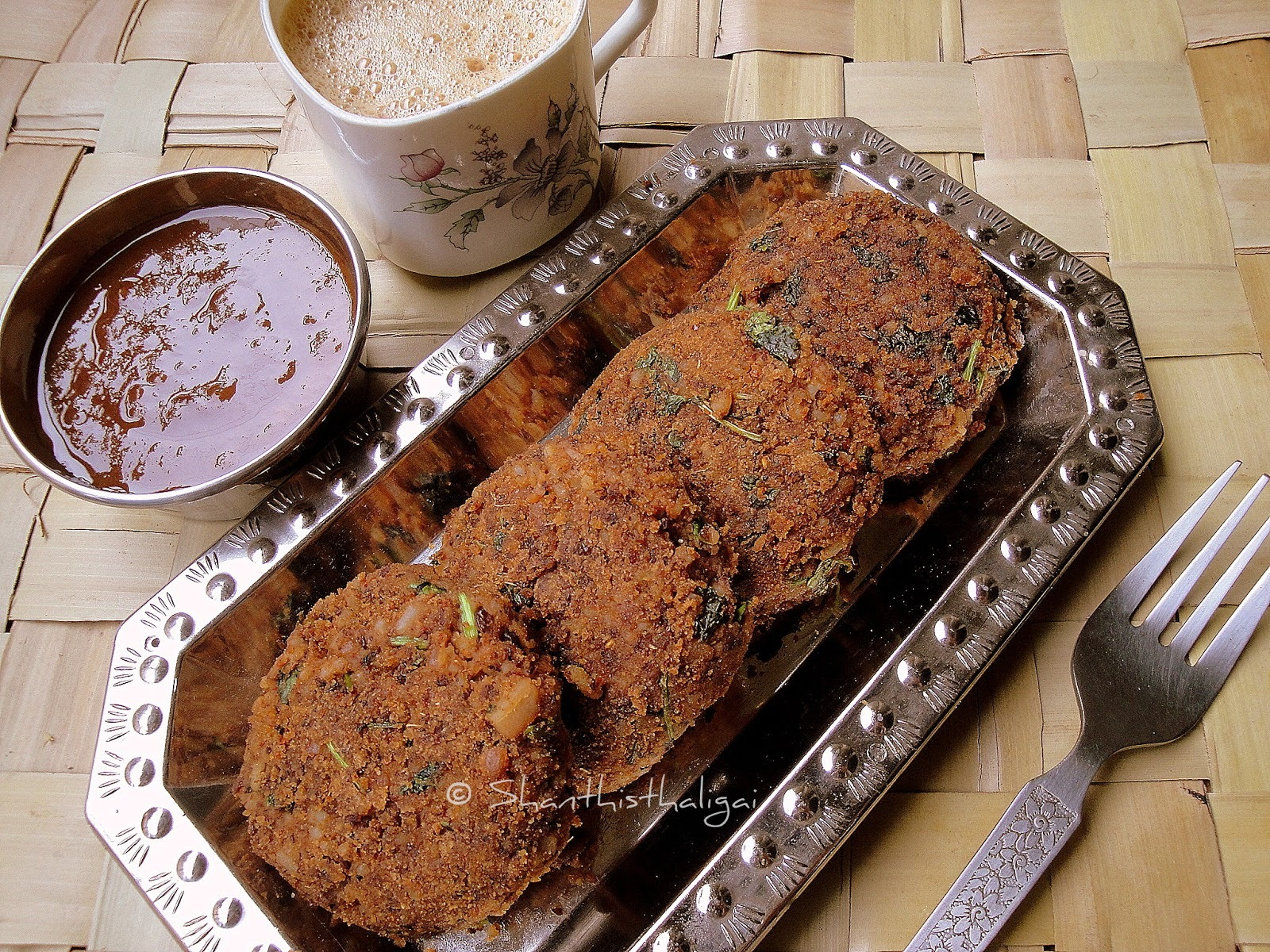 MILLET RAJMA PATTICE / MILLET RED KIDNEY BEAN KEBAB / MILLET BEAN PATTIES