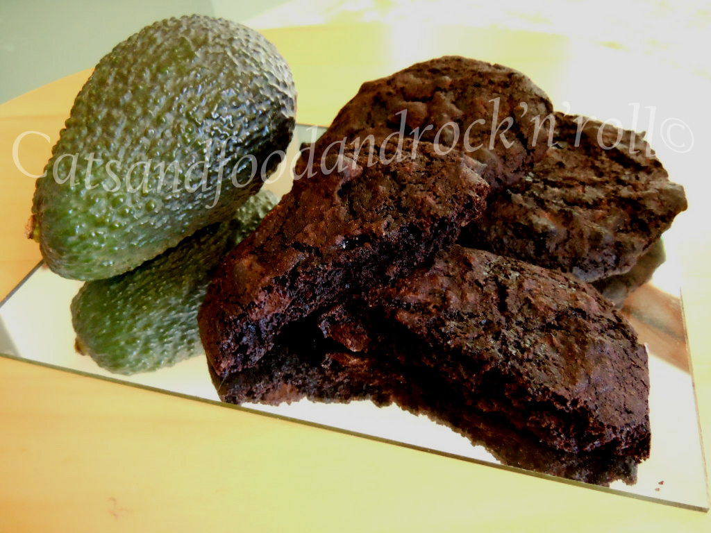 Double chocolate avocado cookies, gluten and dairy-free