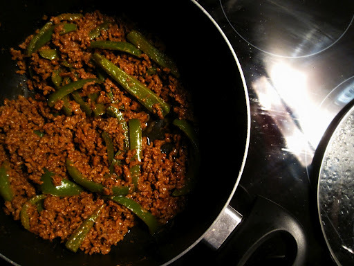 keema simla mirch - pakistani mince beef with green peppers