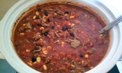 Turkey Chili with Black Beans and Corn