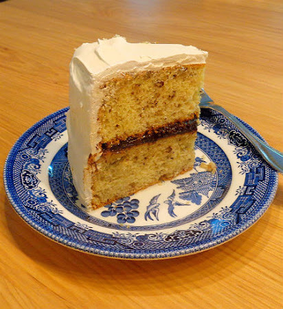 Black Walnut Cake with Sea Foam Icing