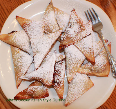 Baked Wonton Nutella Filled Turnover Recipe