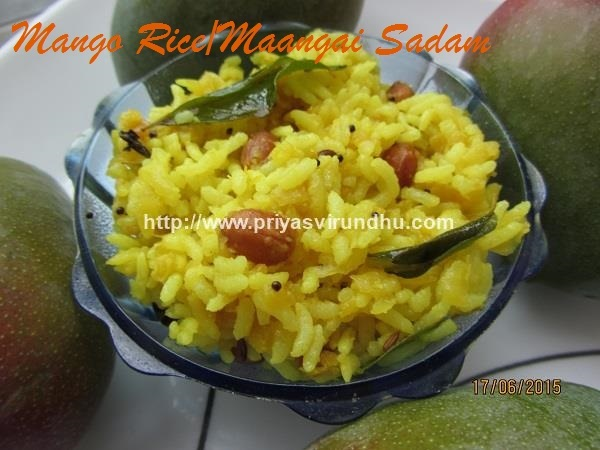 Raw Mango Rice /How to make Mango rice/Maangai Saadham