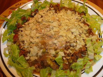 GROUND MEAT SALAD: ENSALADA DE CARNE MOLIDA.