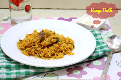 How to make Easy and Quick Vangi Bath | Easy Brinjal Rice