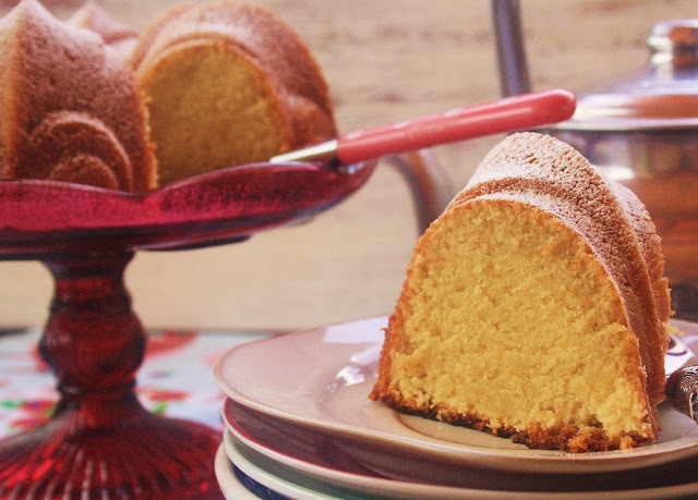 Lemon Cornmeal Bundt Cake