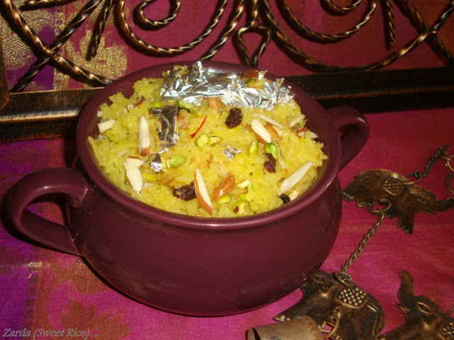 zarda sweet yellow rice