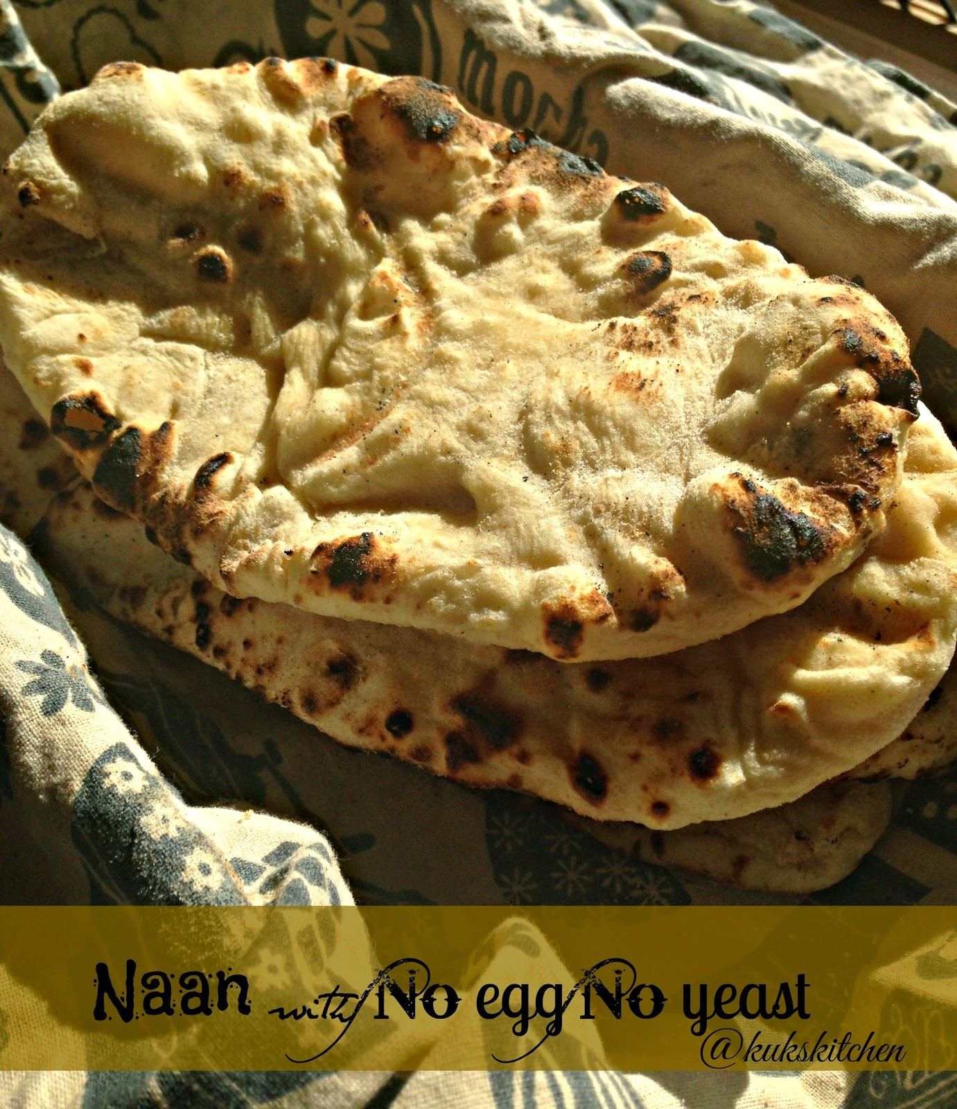 Naan with No yeast No egg | Tandoori roti | Kukskitchen