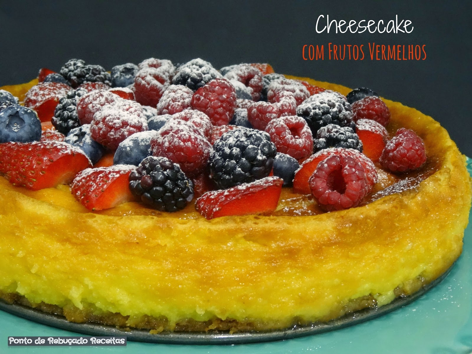 Cheesecake com frutos vermelhos