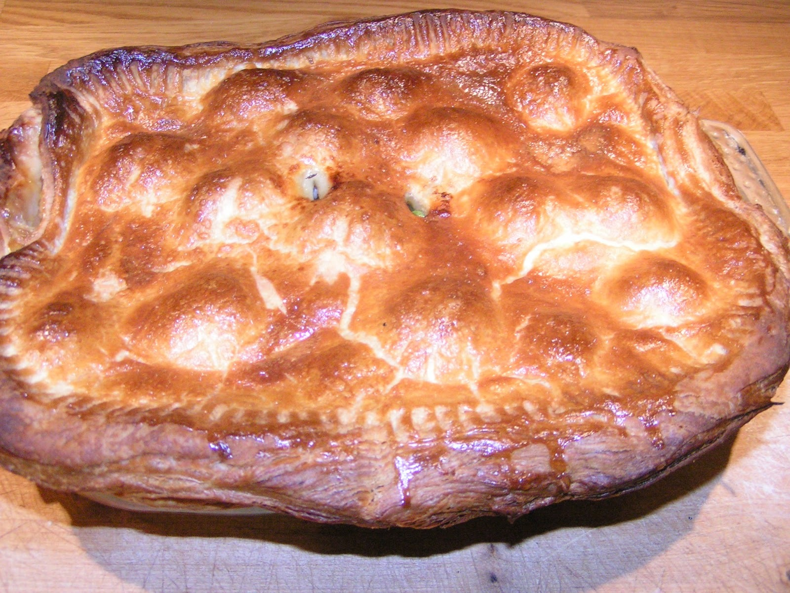 Chicken Pie - because real men (and boys) don't eat couscous