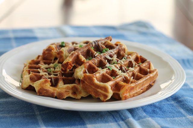 Cauliflower Cheese Waffles #WaffleWeek2015