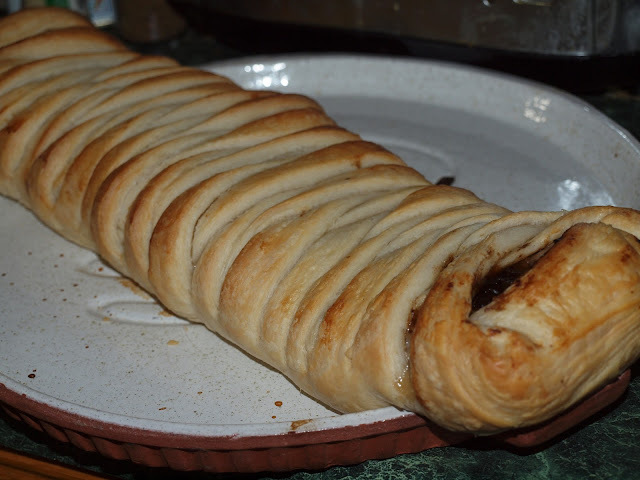 Sausage & Pickle Plait