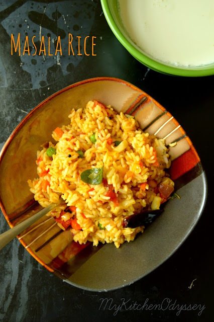 Masala Rice Recipe | LeftOver Rice Recipe