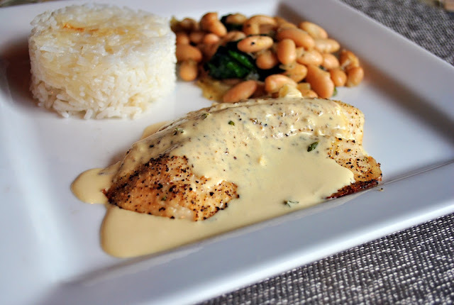 Perfect Sauce with Fish or Chicken #1: Mustard and Thyme Sauce