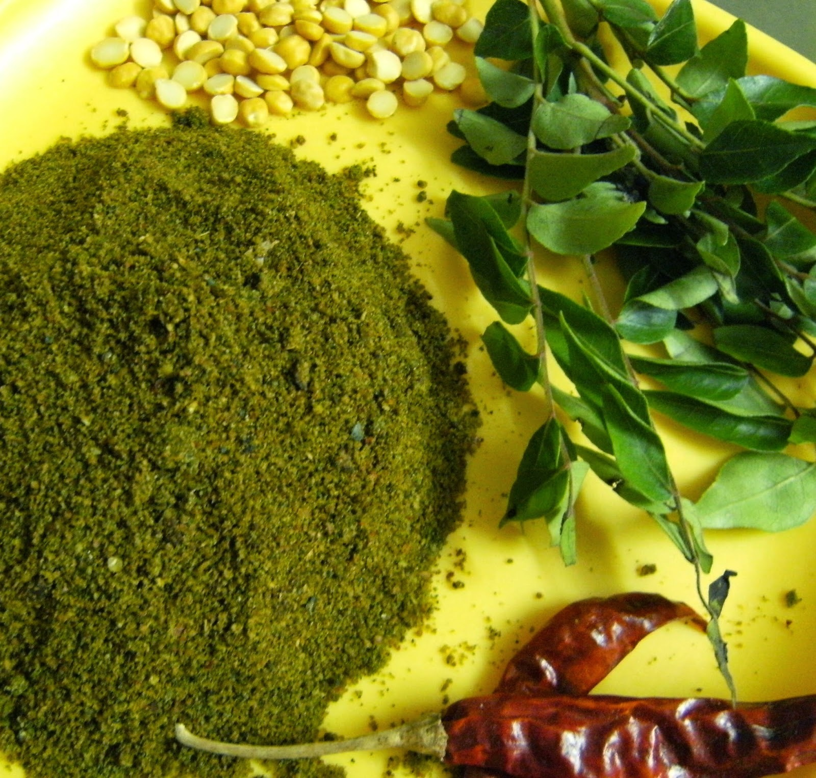 Curry Leaf Powder (Karivepaku Podi)