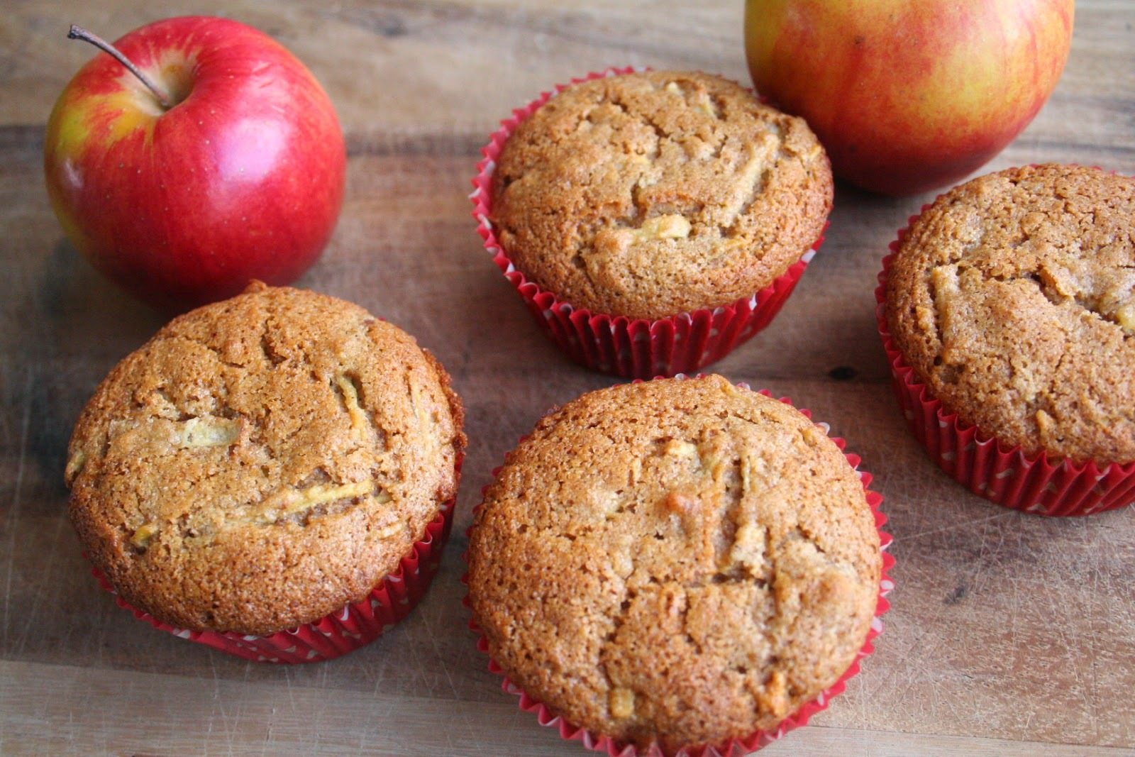 Apple Spice, Red Fife Muffins (Dairy and Refined Sugar Free)