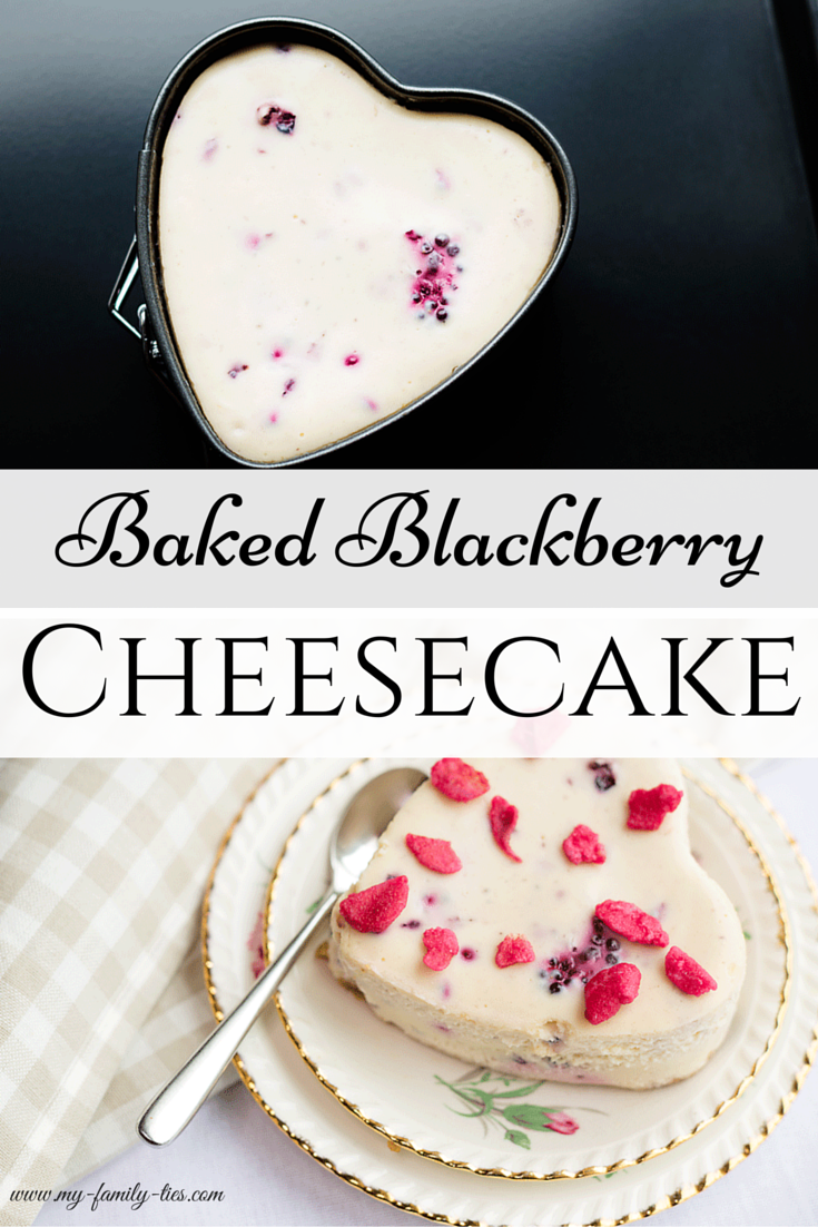 Individual Baked Blackberry Cheesecake